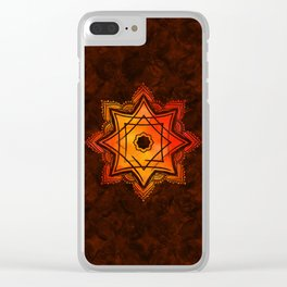 Watercolor Star of Lakshmi - Ashthalakshmi Clear iPhone Case