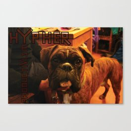 Acoustic Typography: Hypher Productivism [DOG] Canvas Print