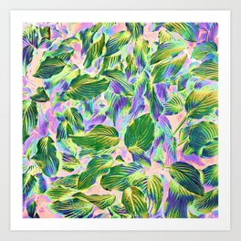 Happy Leaves #painting #nature Art Print