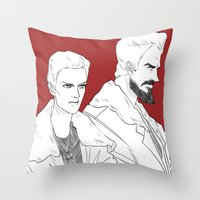 pacific rim Throw Pillows featuring Pacific Rim - Cherno Alpha by arttano