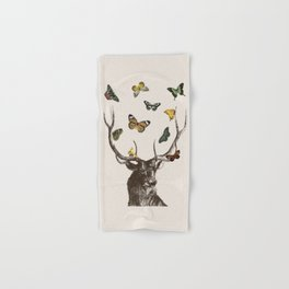 The Stag and Butterflies Hand & Bath Towel