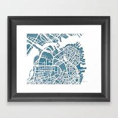 Boston Blueprint Framed Art Print