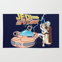 jedi Area & Throw Rugs featuring JEDI IN THE FUTURE by Bamboota