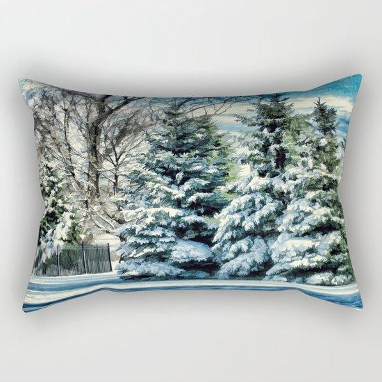 Winter In New England Rectangular Pillow