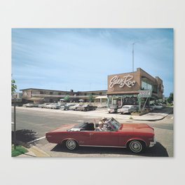 Eden Roc Motel, 1960's Pontiac, Wildwood, NJ, Retro Motel Canvas Print