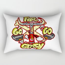 go fast go GRAZY ( vintage folding bicycle tribute - bull angry sketch handdrawn italian logo )  Rectangular Pillow