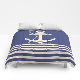 AFE Navy & Beige Anchor and Chain Comforters
