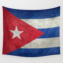 Cuban national flag- vintage retro version Wall Tapestry