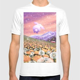 Bunny Hopping in the Field of Hope T-shirt