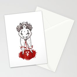 Feminist Blood Witch Stationery Cards