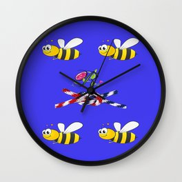 To Bee or not to Bee Wall Clock