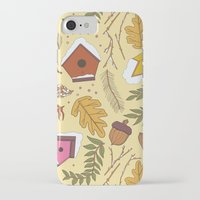 70s iPhone & iPod Cases featuring 70s Woodland by Aron Gelineau