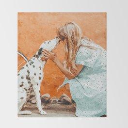 Pet Bound #pets #animals #animalslover #painting Throw Blanket