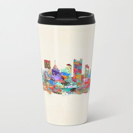 Pittsburgh Pennsylvania skyline Metal Travel Mug