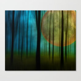 Full Moon Forest Canvas Print