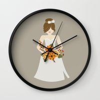 bride Wall Clocks featuring Bride by Cpayne