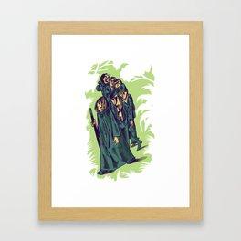 Pilgrims - Santiago de Compostela Framed Art Print