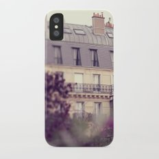 paris charm Slim Case iPhone X