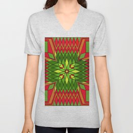 Poinsettia Flower Unisex V-Neck