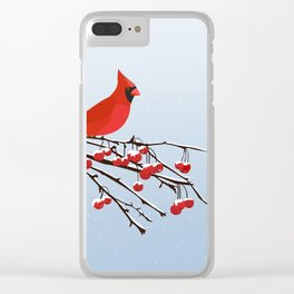 AFE Red Cardinal Clear iPhone Case