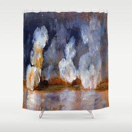 Johan Christian Dahl Smoke from Cannon Shots Shower Curtain