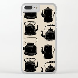Hand drawn vintage teapots Clear iPhone Case