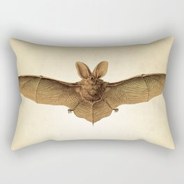 Bat, Bat Art Print, Bat Print, Animal Decor, Illustration, Natural History, Bat Poster, Bat Species, Bat Prints, Classroom, Science Art, Vampire, Reptile, Bat Art, Learning, Biology, Nature, Animal, Bats, Flying Bats Rectangular Pillow