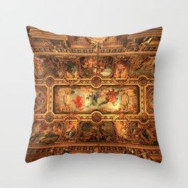 Midnight with Botticelli, Raphael, Michelangelo, & Perugino, Sistine Chapel, Rome Throw Pillow