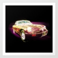 Neon MG - Return of the Retro Art Print