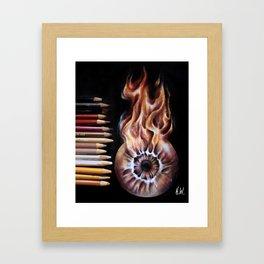 """Fire Eye"" Drawing Framed Art Print"