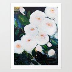 Abstract Rose Garden Art Print