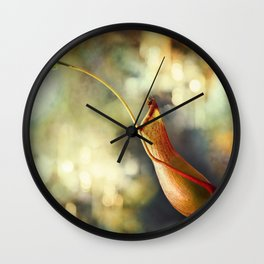 Pitcher Plant Wall Clock