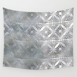 Silver glitter pattern on mother of pearl Wall Tapestry