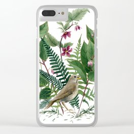 Woodland Birdsong Clear iPhone Case