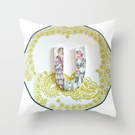 Love Letters to Dinnerware - U Throw Pillow