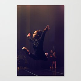 Leaping Olivia Canvas Print