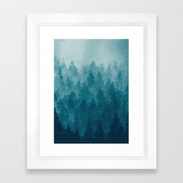 Misty Pine Forest Framed Art Print