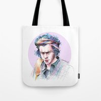 plaid Tote Bags featuring Plaid by LePomiere