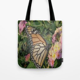Monarch Butterfly Abstract Tote Bag