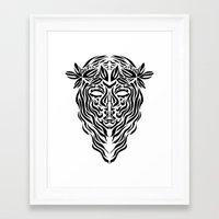 virgo Framed Art Prints featuring Virgo by Mario Sayavedra