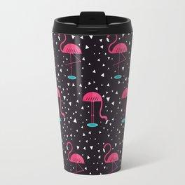 Flamingos Pattern Travel Mug