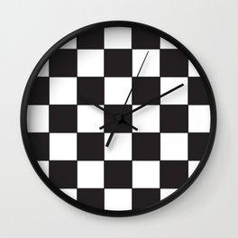 Damier noir blanc Wall Clock