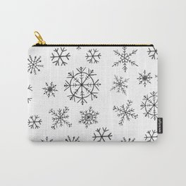Winter Snowflake Design - Hand-Drawn Snowflakes Carry-All Pouch