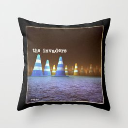 Gang of Cones  - The Invaders Throw Pillow