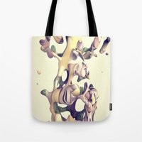 hug Tote Bags featuring HUG by AMULET