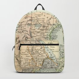 North East Africa Vintage Map Backpack