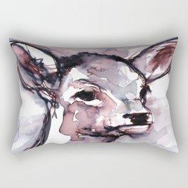 Fawn, Watercolor Rectangular Pillow