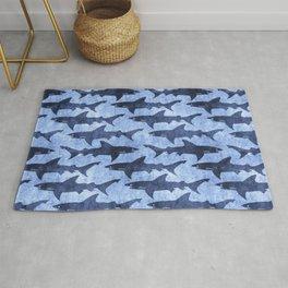 Blue Ocean Shark Rug