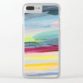 paint stripes Clear iPhone Case