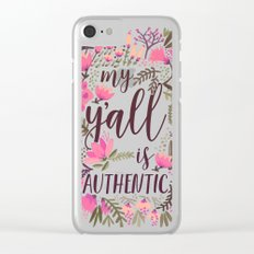 My Y'all is Authentic – Vintage Palette Clear iPhone Case